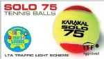 Karakal Solo 75 Tennis ball bag of 12 KZ8567