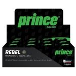Prince Rebel Squash Ball Double Yellow Dot doz