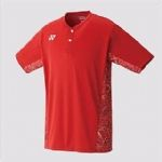 Yonex Mens Crew neck shirt Sunset Red 10232