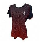 Ashaway Ladies Round Neck Black Red ARL343