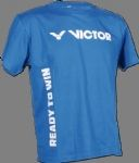Victor T-shirt Ready to win Blue -white 646